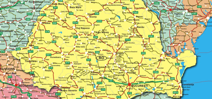 Harta-Romania