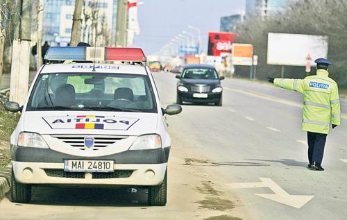masina politie oprire sofer