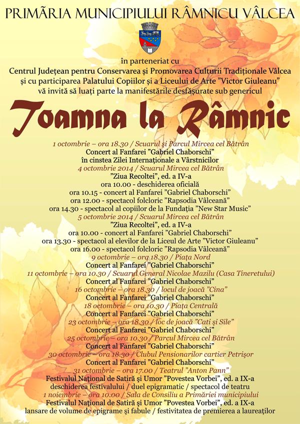 afis - Toamna la Ramnic