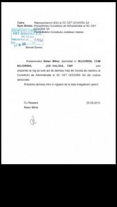 Balan demisie CA CET