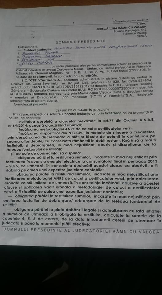 Bragau CEZ chemare in judecata