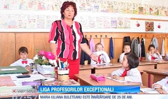 O profesoară din Vâlcea în topul celei de a treia ediție a Ligii Profesorilor Excepționali