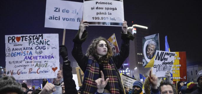 BUCURESTI - PROTEST - GRATIERE