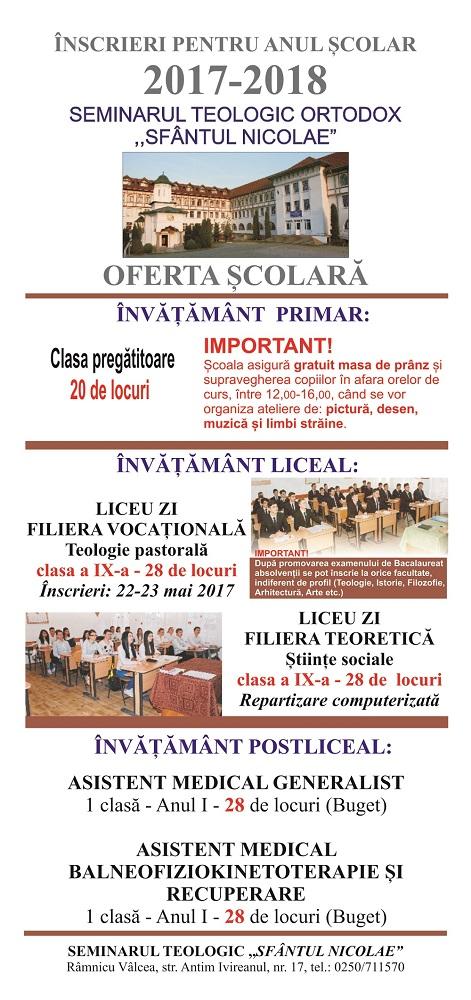 oferta scolara seminar
