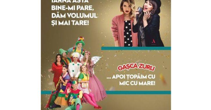 SPECTACOLE cu Andra, Lidia Buble și Gașca Zurli la Shopping City Râmnicu Vâlcea