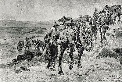 1916_-_Albert_Reich_-_Valea_Oltului_-_artilerie_de_munte_germana_in_mars_sprevVarfurile_Suru_si_Cozia_p32