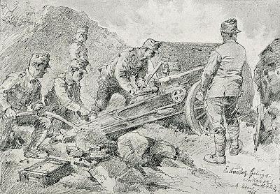 1916_-_Albert_Reich_-_Valea_Oltului,_artilerie_de_munte_austro-ungara_in_pozitie_p27