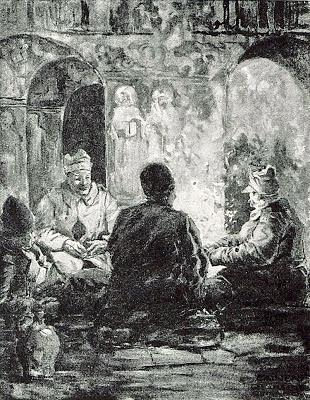 1916_-_Albert_Reich_-_Valea_Oltului,_prizonieri_romani_in_Biserica_din_Caineni_p31