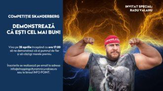Competiție de Skandenberg cu Radu Valahu, la Shopping City Râmnicu Vâlcea
