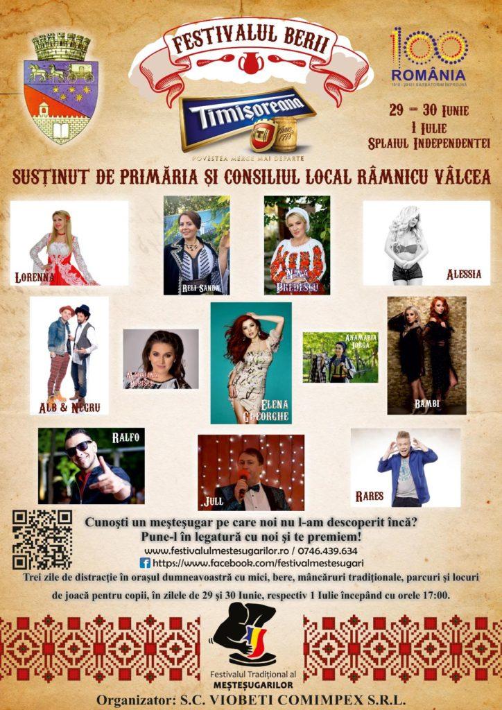 Afis Festivalul Berii - Serbarile Timisoreana
