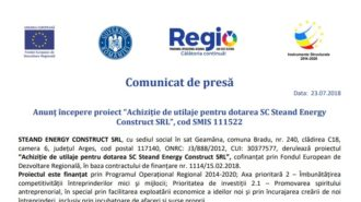 Comunicat Stean Energy