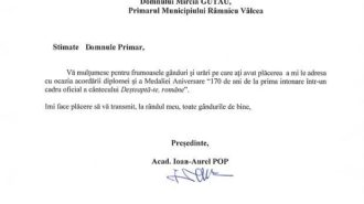Scrisoare Pres. Academiei Romane