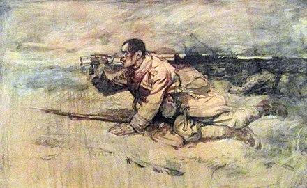 441px-1917_-_Ion_Stoica_Dumitrescu_-_Ultimul_atac_al_gornistului_rănit_Marele_Razboi