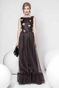 rochie lunga cu tull zonia