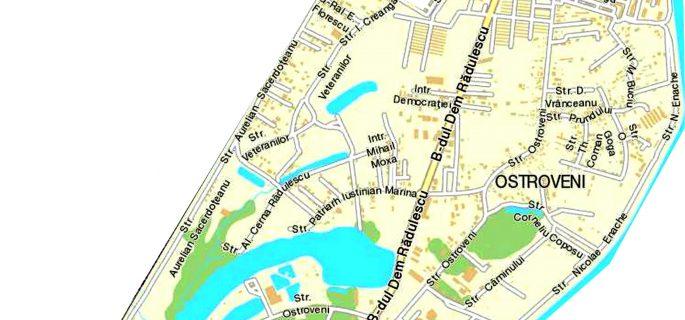 harta Ostroveni S-E