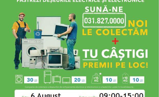 """Râmnicu Vâlcea participă în campania """"România Reciclează"""" – pe  6 august 2020, locuitorii din Râmnicu Vâlcea reciclează"""