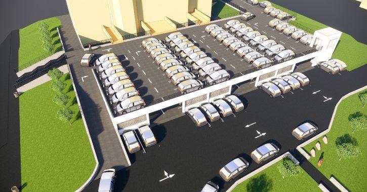 S-a semnat contractul pentru realizarea parcării etajate de la Casa Tineretului