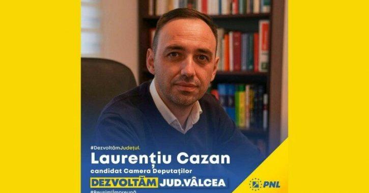Laurentiu Cazan, candidat la Camera Deputatilor: PNL este singurul partid care poate construi un viitor mai bun pentru vâlceni