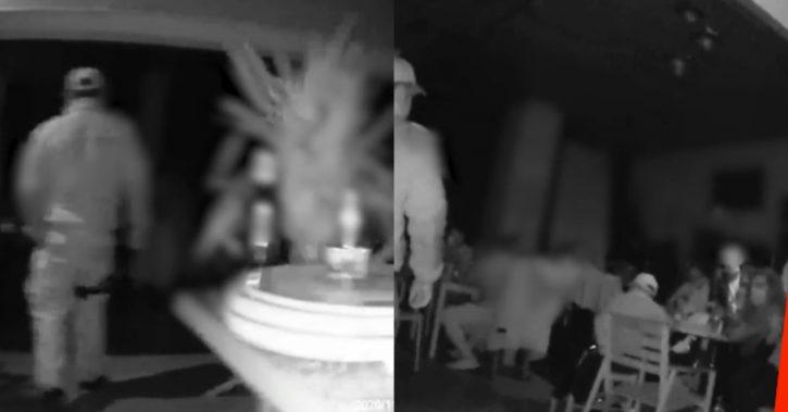VIDEO. Patronul unui Pub din Vâlcea, baricadat în bar după ce a fost prins de jandarmi cu zeci de clienţi în interior