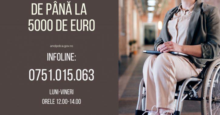 Vouchere de până la 5.000 de Euro pentru persoanele cu dizabilităţi