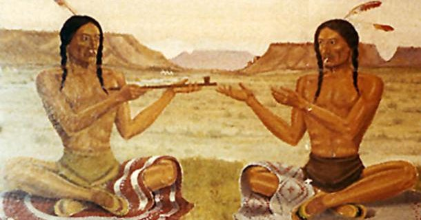 Native-American-Peace-Pipe-Painting