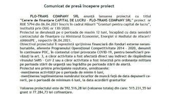comunicat Flo TRans