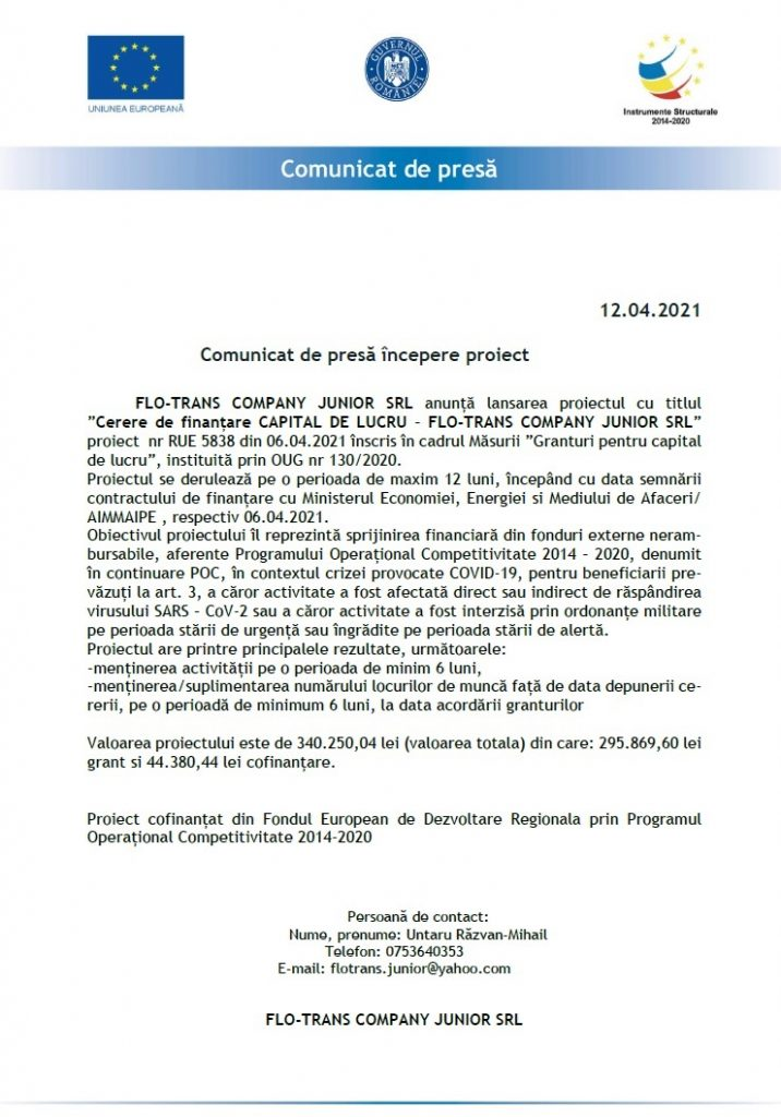 comunicat Flo Trans2