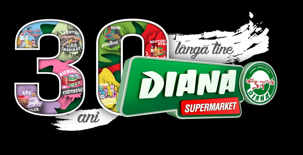 Logo Aniversar Magazine DIANA Pentru fundal inchis